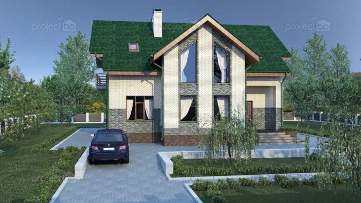 Проект дома с мансардой в современном стиле C-226